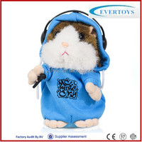The cute mimicry pet DJ hamster talking plush animal toy electronic plush toys
