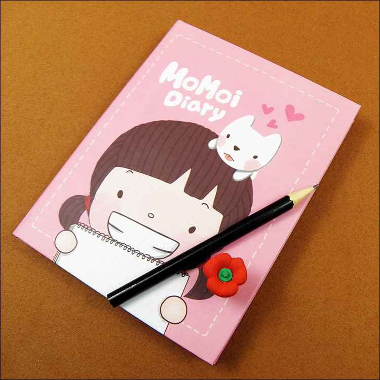 School Stationery Gift Supplies Cute Momoi Beautiful Pages Paper Diary Art Printing Notebook