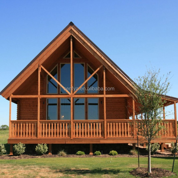 Manufacturer of 135sqm family vacation wooden prefabricated house with the best price