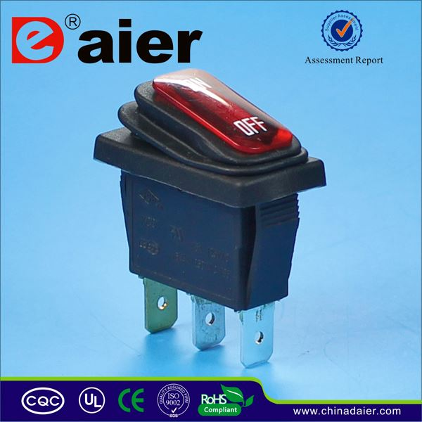 Daier 15a 125vac rocker switch