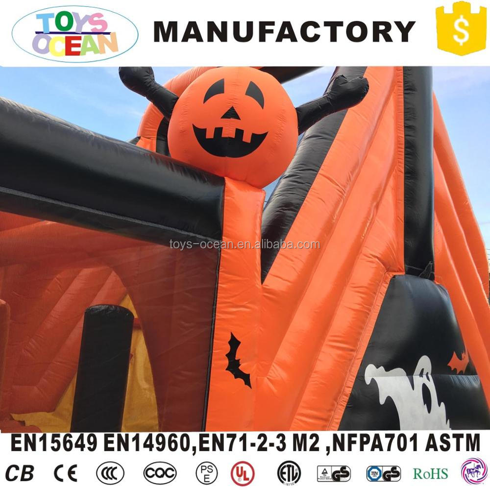 Crazy halloween inflatable haunted house obstacle course for Kids