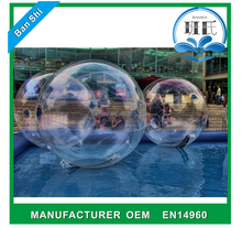 Guangzhou Banshi jumbo water ball, bouncing ball for adult, inflatable water walking ball for adult