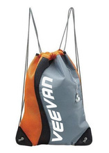Logo customized sport style drawstring bag in orange and gray