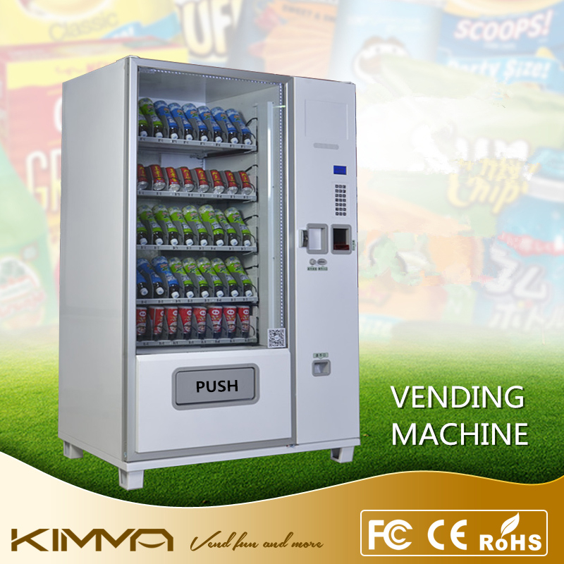Automated soda snack combo vending machine with glass front