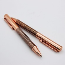 Executive advertising business metal ball pen with logo high quality rose gold pen
