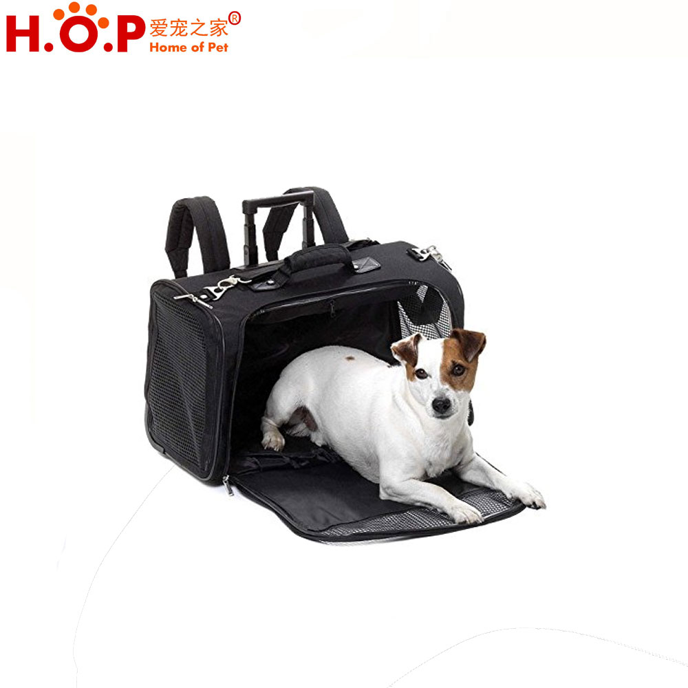Luxury Fashion Dog Bags Fence Panel Designs Bags Top Quality Durable Wheel Pet Carrier Pet Travel Carrier Bags