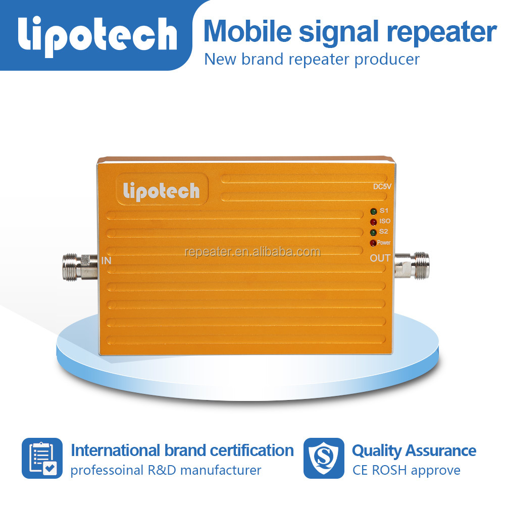 LIPOTECH 3G Mobile Phone Booster 850/1900MHz amplificador signal repeater 65db Gain 3g signal amplifier
