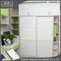 Green serious modern designs wooden sliding door wardrobe