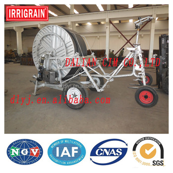 Hose reel irrigation system machine