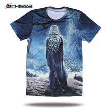 Active sport polyester t shirt subliamted printing polo shirts league team players T- shirts