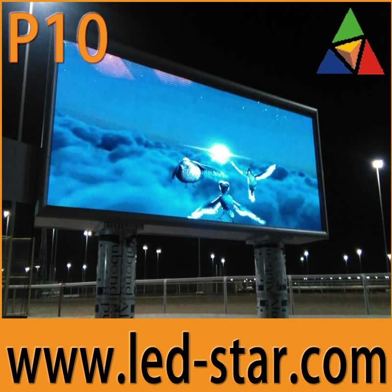 Outdoor P10 led screen clock time date temperature sign