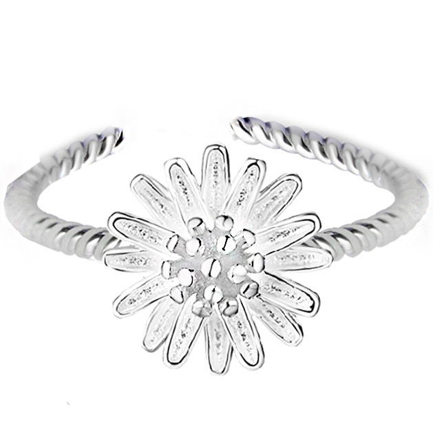 new arrival women mother chrysanthemum flower fashion 925 sterling silver wedding charm Ring Fashion rings jewelry 171