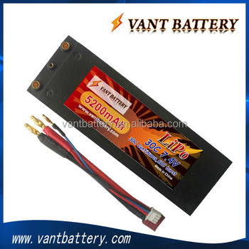 Lithium polymer 5200mah 2s 7.4v 30c with long battery life for RC car R/C Racing Vehicles