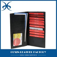 Credit Card Leather Case Wallet With Secretary Holder Checkbook Bifold