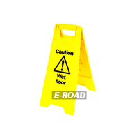 Customized Plastic A Shape Caution warning yellow Wet Floor Signs