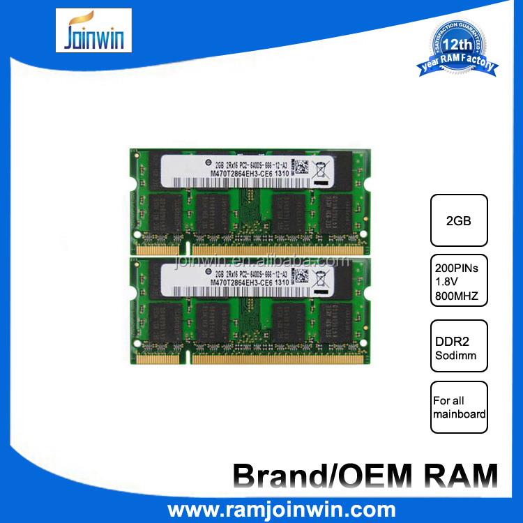 New arrival full compatible high performance sodimm ram 2gb ddr2