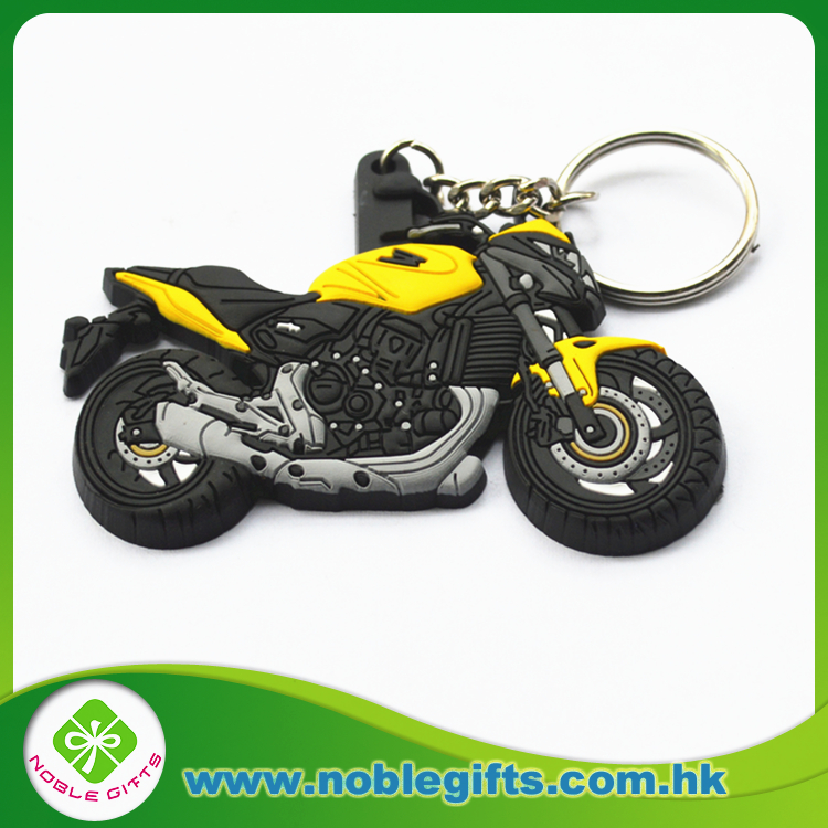 Custom logo pvc keychain rubber Motorcycle Model Keychain