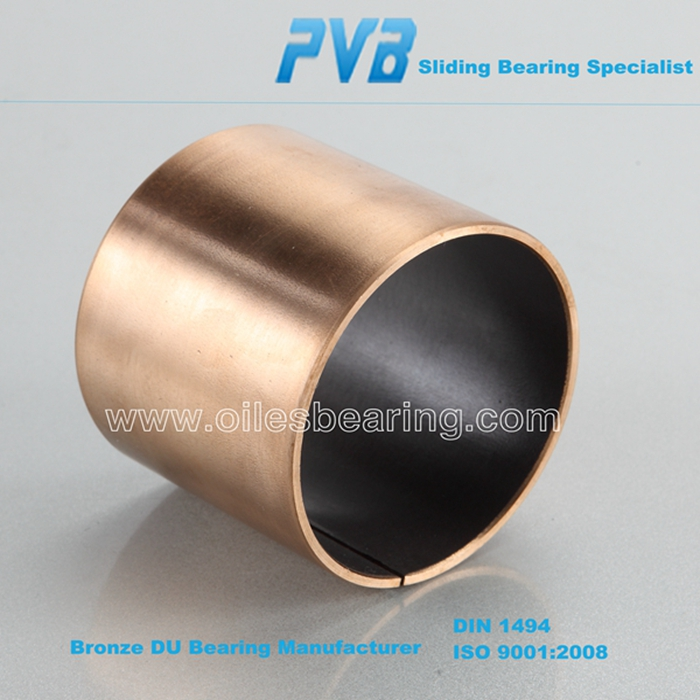 SF-1 self-lubricating copper backing DU bush, dry sliding galvanize coated bronze bushing,oil lubrication wrapped bronze bush