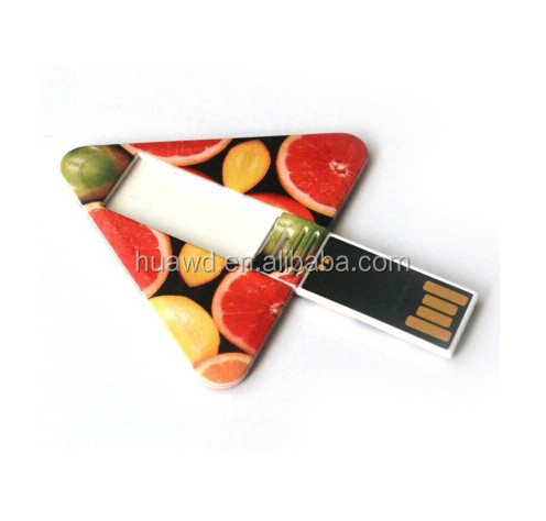 OEM plastic usb flash drive/mini card usb,triangle shape card usb