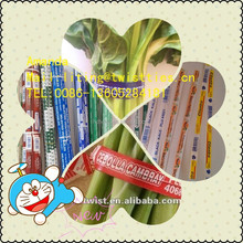logo printed paper twsit ties for vegetables 5551