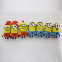 China Promotion Gift Silicone Rubber minions USB drive/usb flash memory/usb flash drive no housing
