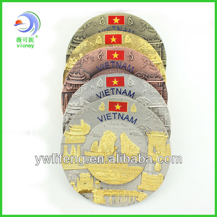 custom decorative souvenir metal plate/souvenir plate/tourist souvenir plates