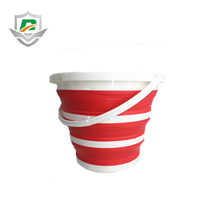 2018 wholesale outdoor fishing folding silicone portable collapsible eco-friendly bucket