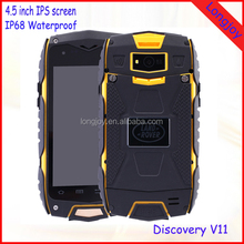 "4"" MTK6582 Quad Core 8GB Android 5.0 Waterproof Phone Discovery V11 Rugged Smartphone"
