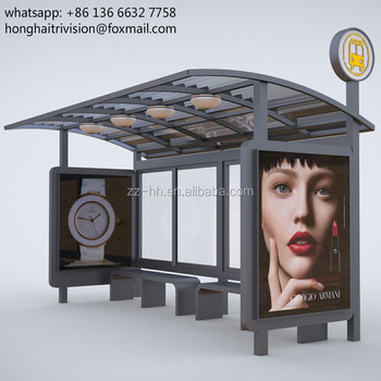 new design anti rust outdoor modern prefabricated bus shelters