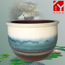 wholesale price Japan quality white and blue ceramics fish vat