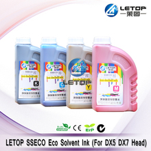 High quality Eco solvent ink for DX5 DX7 head wit color xuli printing machine odourless ink