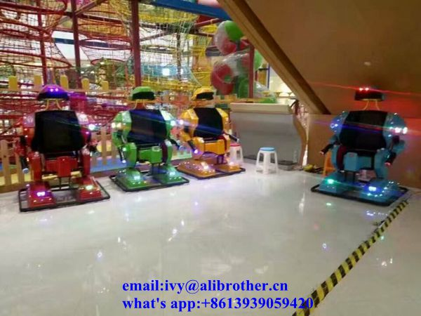 High quality amusement park equipment Kids Ride On Toys Electric Robot