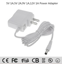 Wall mount White color indoor use power adapter 5V 12V 0.5A 1A 2A ac/dc adapter