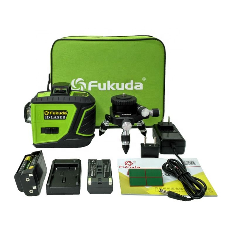 Fukuda 12 lines MW-93T laser leveler Red Green beam laser <strong>level</strong> 3D 360 Vertical Horizontal Self-leveling Cross Line laser nivel