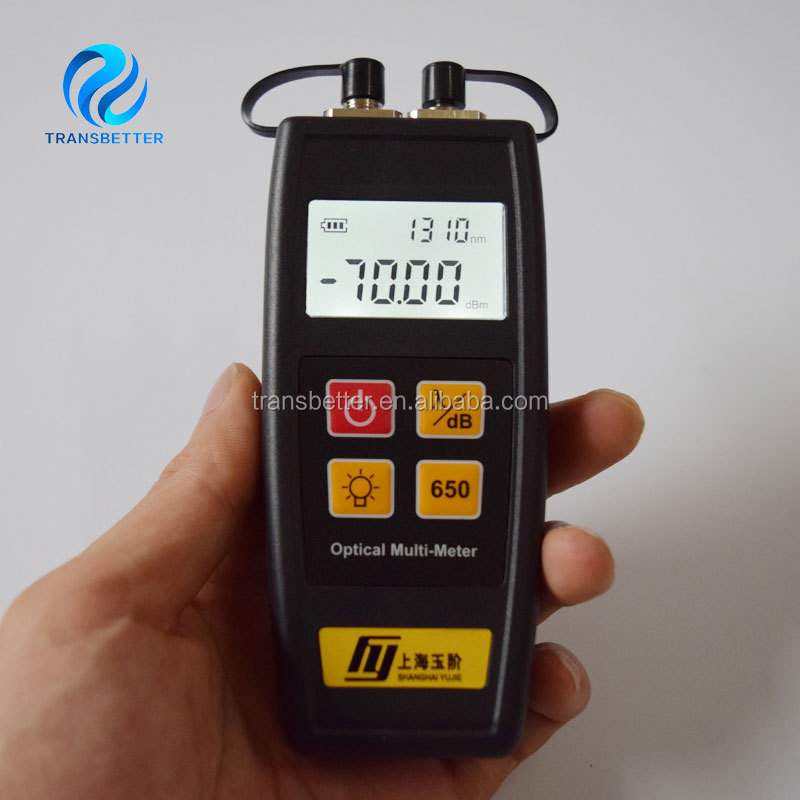 Fiber Optic Mini Multi-meter Visual Fault Locator 1mw and Optical Power Meter (-70~+6dBm)