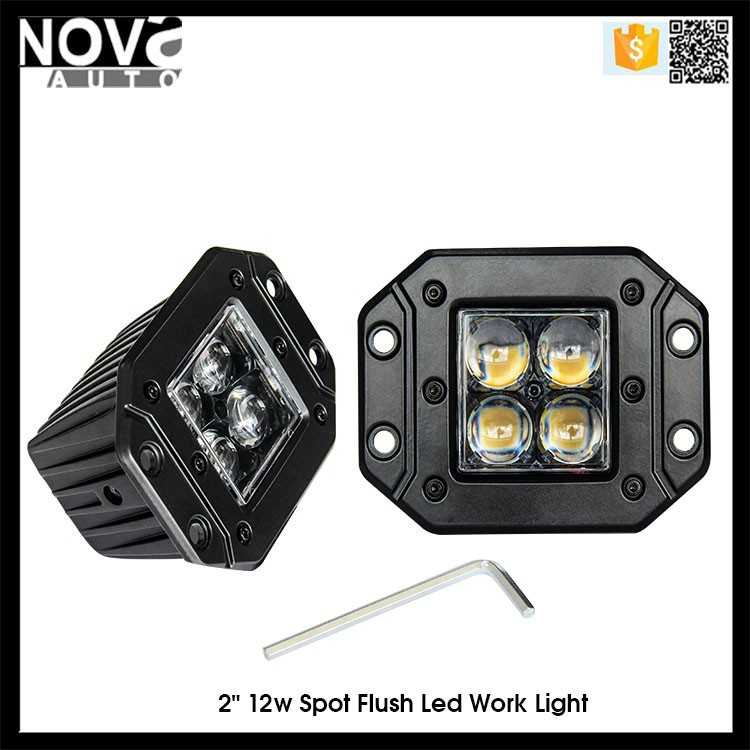 2016 new product Offroad led work light Auto led working lights 12W square led work lights for car
