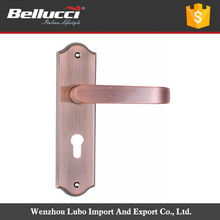 High Performance Antique Zinc Alloy Zinc Door Handle With Factory Price Of Pull Handle With Short Plate