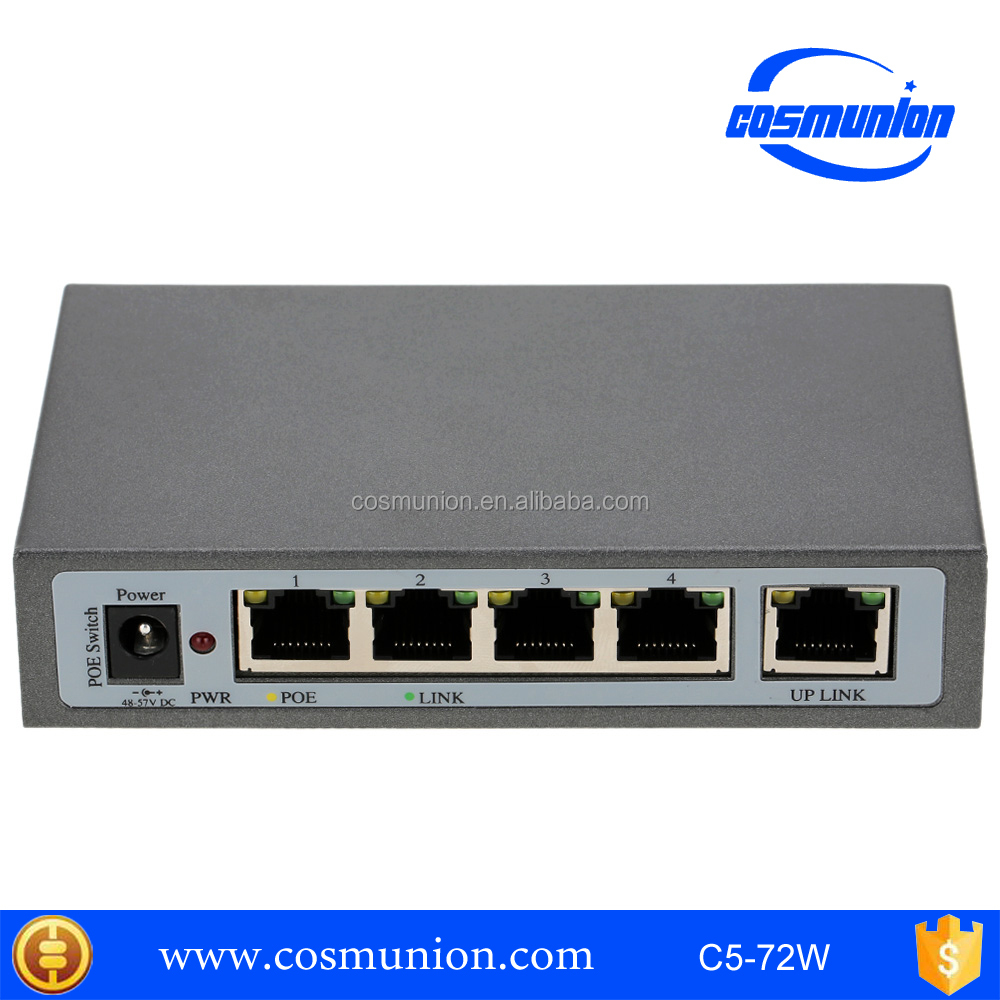 Factory Price 4 Port Ethernet POE Switch For IP Camera 10/100Mbps