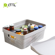 Hollow Plastic Storage Basket With Lids Rectangle laundry basket With Cover