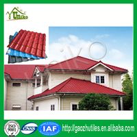 Building materials ASA plastic pvc roof tile/house designs insulation color roof/synthetic resin roof tile