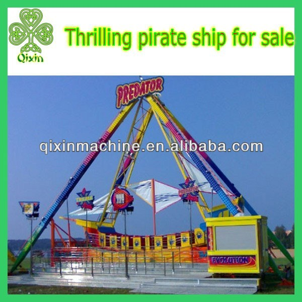 Exciting amusement park equipment 24 seats real pirate ships for sale