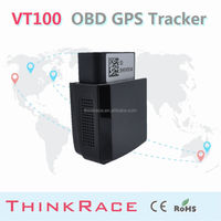 High quality gps tracker with gps tracking systems and OEM service supports Over speed alert Thinkrace obd2 gps tracker VT100