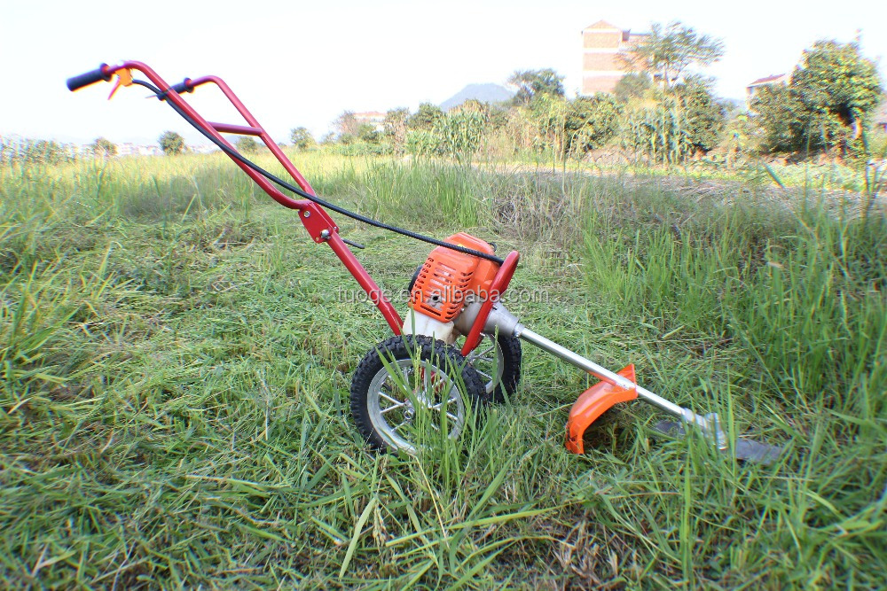 TUOGE Best Price easy use,manual brush cutter with wheels