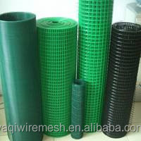 Green Plastic Coated 1/2 inch Welded Wire Mesh Factory in Stock