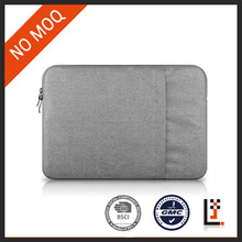 spot goods horizontal light gray nylon laptop sleeve case for 11,13,15 inch