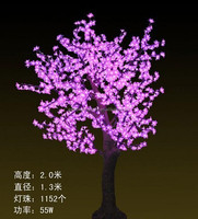 2015 hot sell outdoor Led light up fake cherry blossom tree