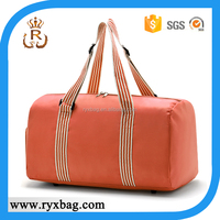 Duffel travel gym bag with secret compartment for shoe
