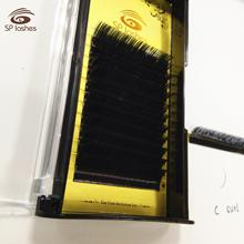 Sp lashes Eyelash extension fan 0.15 camellia lashes ellipse <strong>flat</strong> shape false lashes split eyelash extensions
