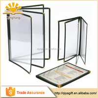 Hot Selling High Quality Low Price Oem Production Restaurant Menu Cover