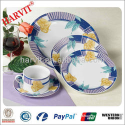 2014 Fine Porcelain Dinner Set/Beautiful Flowers Decal Ceramic Dinnerware Sets/Hot Sale Cheap Tableware